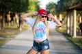 Picture face, style, model, hair, glasses, cap, beauty, Marina