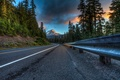 Picture road, forest, clouds, trees, landscape, mountains, nature, highway, USA