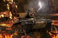 Picture game, weapons, tank, game, weapon, Mortal Kombat, world of tanks, Scorpion, world of tanks, tank, ...