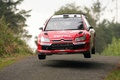 Picture Logo, Red, The front, Wheel, The hood, WRC, Rally, In the air, Citroen, Rally