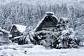 Picture winter, snow, house, Japan, the island of Honshu, Gokayama, Shirakawa-go