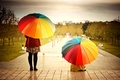 Picture widescreen, HD wallpapers, Wallpaper, umbrella, the city, girl, full screen, positive, background, woman, umbrellas, fullscreen, ...