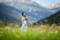 Picture Anastasia Frost, girl, mountains, nature, tattoo, landscape
