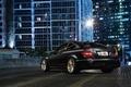 Picture the city, building, Mercedes-Benz, black, AMG, rear, C63, C-Class