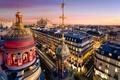 Picture France, France, Paris, roof, the city, the evening, Palace, building, The Paris Opera, Ile-de-France, Grand ...