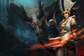 Picture League of Legend, Dragon, Shyvana, Blood