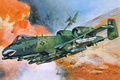 Picture aviation, art, attack, the plane, American, A-10, UNITED STATES AIR FORCE