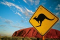 Picture sign, 152, Australia, kangaroo