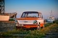 Picture ZAZ, retro, Zaporozhets, ship, USSR, sailors, Wallpaper, cars, wallpaper, machine, auto, classic, 968, constipation