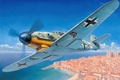 Picture Messerschmitt Bf-109, aviation, ww2, painting, war, art