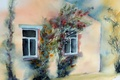 Picture picture, house, watercolor