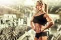 Picture pose, bodybuilder, Olga Belyakova