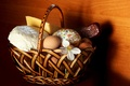 Picture cake, eggs, holiday, food, basket, Easter