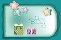 Picture balls, birthday, holiday, bows, congratulations, happy birthday, gifts, stars