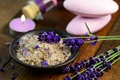Picture flowers, flowers, salt, candles, salt, candles, lavender, wellness, relax, spa, still life, Spa