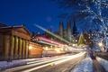 Picture winter, night, the city, lights, Scotland, UK, Scotland, Edinburgh, Edinburgh
