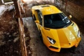 Picture yellow., Kar, aventador, sport, lamborghini, machine