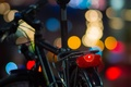 Picture lights, macro, bike, bokeh, colorful, the evening, night