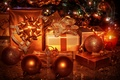 Picture balls, New Year, gifts, candles, light, winter, toys, tape, box, lights, New Year, Christmas, tree, ...