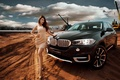 Picture pose, girl, BMW, Asian