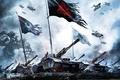 Picture flags, supreme commander, tanks, Supreme commander