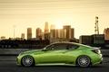 Picture green, hyundai, Hyundai, tuning, profile, coupe, green, Genesis, genesis, stance