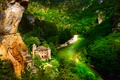Picture forest, mountains, river, castle, France, Laval