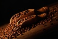 Picture coffee beans, coffee beans, shoulder blade, bag, bag, blades
