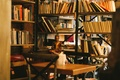 Picture Buddha, books, St. Petersburg, Magenta, coffee, bookshelves, place