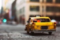 Picture car, toy, taxi, toy, street, asphalt, model, miniature, car model