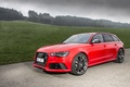 Picture red, RS6, quattro, ABBOT, drives, nature, tuning, red, lights, the hood, body, Audi, 2013, Audi, ...