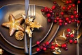 Picture winter, table, star, devices, New Year, Christmas, plates, dishes, Christmas, black, asterisk, holidays, New Year, ...