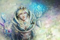 Picture Crystal Maiden, Art, Sketchy Fan, Dota 2, Valve