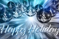 Picture balls, decoration, lights, letters, background, holiday, blue, the inscription, balls, toys, graphics, Shine, new year, ...