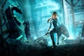 Picture look, Tomb Raider: Underworld, hair, girl, sword, shield, beauty, underworld, tomb raider