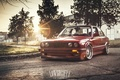 Picture car, the sun, bmw, red, Blik, low, e30, 3 series, stance, hq Wallpapers