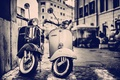 Picture scooters, street, home, building, the city, Vespa