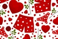 Picture panties, texture, hearts, panties, texture, hearts, roses, rosettes