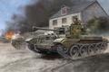Picture WW2., game, art, average, Cromwell, 75 mm, tank, Cromwell, Cruiser, gun, world war II, miniatures, ...