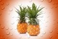 Picture drops, bubbles, background, fruit, pineapple