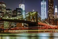Picture night, lights, New York