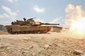 Picture flame, shot, tank, usa, abrams, military equipment