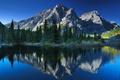 Picture mount Kidd, Canadian Rockies, reflection, mountains, Canadian Rockies, trees, Kananaskis Country, Alberta, Canada, lake, Kananaskis, ...