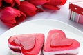 Picture flowers, red, background, gift, Wallpaper, heart, food, roses, red, cake, dessert, cake, sweet