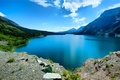 Picture clouds, the sky, lake, mountains, trees