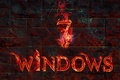 Picture flame, windows, operating system. texture, text, computer, wall, fire