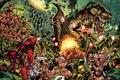 Picture weapons, explosions, comic, ninja, battle, deadpool, blood, marvel, dinosaur, gun, comics, heroes, war, jungle
