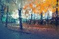 Picture Golden foliage, raindrops, autumn