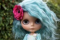 Picture toy, doll, flower, hair