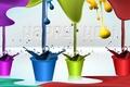 Picture color, holiday, paint, pot